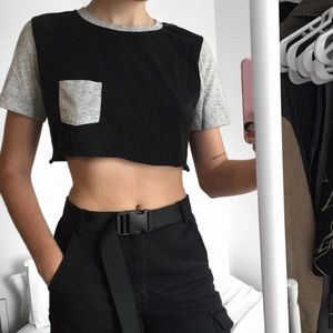 🏴 cropped jersey tee